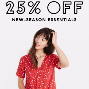 25% OffNew Season Essentials @ Madewell