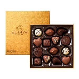 Godiva金色礼盒14块装