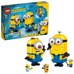 LegoMinions: Brick-Built Minions and Their Lair 75551 Minions Toy with Buildable Figures (876 Pieces)