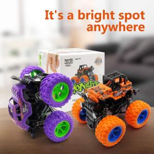 $15.99(原价$23.99)TXH Monster 惯性回力越野玩具车两个装 可360度翻转