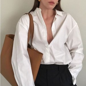 $50 Get Silky Cotton ShirtEverlane Women's and Men's Clothes Shoes Bags New Arrivals