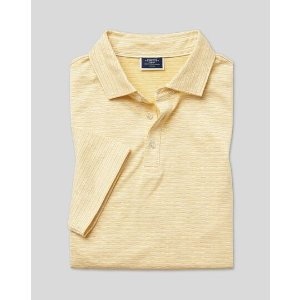 Charles Tyrwhitt3 pieces for $117Herringbone Cotton Linen Polo - Yellow