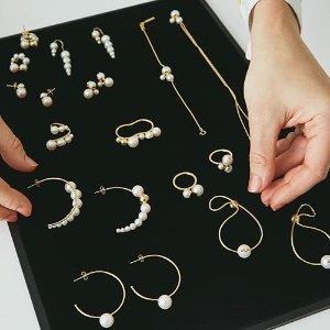 低至$31 经典又时髦限时免邮:Rue la la 设计感高品质珍珠首饰专场