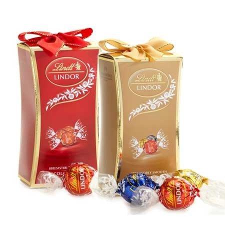 LINDOR 节日牛奶巧克力礼盒16颗装 2盒