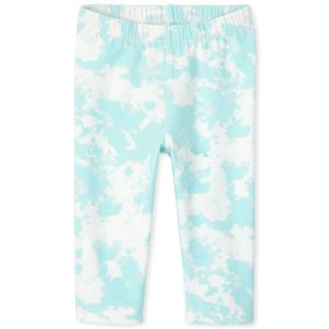 The Children's PlaceBaby And Toddler Girls Tie Dye Print Knit Capri Leggings