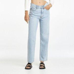 Lee直筒牛仔裤