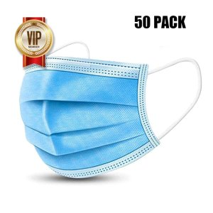Disposable Protective Mask Added Melt Blown Fabric Layer (50pcs)