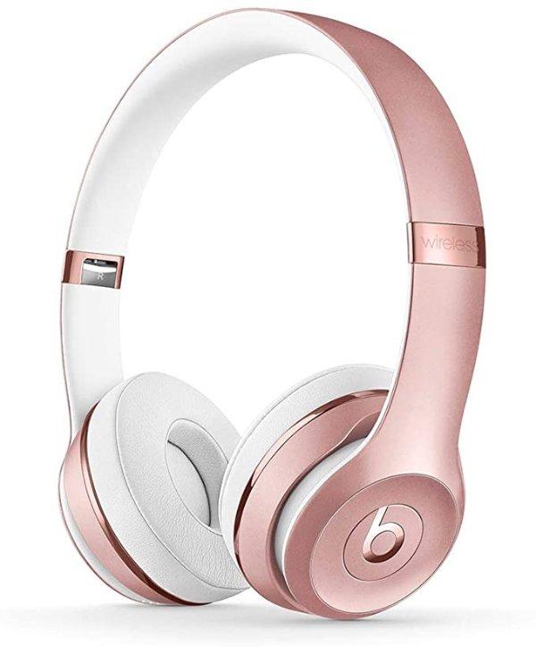 Beats Solo3 头戴式无线蓝牙耳机 粉色
