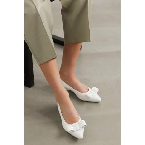 Salvatore FerragamoViva bow-embellished leather point-toe flats