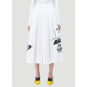 Prada印花长裙