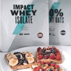 $54.99(原价$98.97)+包邮Myprotein官网 Impact Whey Isolate乳清分离蛋白粉促销