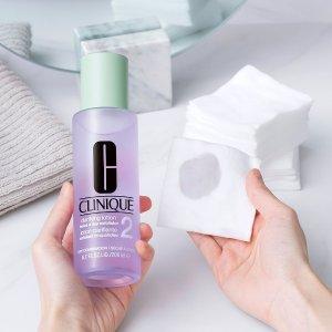 送30ml洁面皂+黄油15ml 4选2Clinique 倩碧明星净透水送礼 补水+温和去角质 一瓶多用