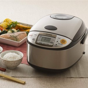 $104.99Zojirushi Micom Rice Cooker & Warmer with Steam Basket, 5.5 Cup (Uncooked),