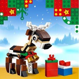 免费驯鹿小套装LEGO®官网 全场购物满$35送圣诞好礼