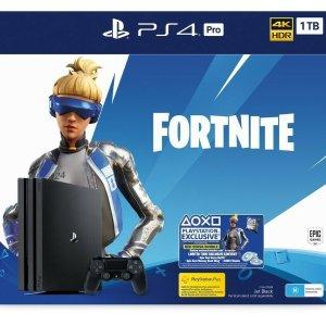 $424(原价$519)超棒游戏体验限今天:Sony PS4 1TB Pro游戏机+ Fortnite《堡垒之夜》套装