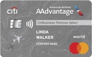 Earn 70,000 American Airlines AAdvantage® bonus miles after qualifying purchaseCitiBusiness® / AAdvantage® Platinum Select® World Mastercard®