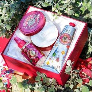 7折+送正装洁面 或 护肤4件套L'occitane 精美礼盒热促 收可爱限定护手霜套装