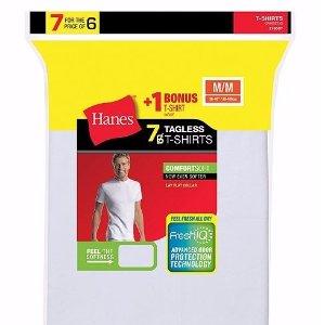 额外7.5折+包邮 7件套$11Hanes 男士打底衣 底裤多件套超值特卖