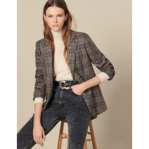 SandroChecked Wool Blazer