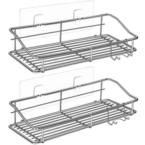 Nieifi Shower Caddy Shelf Storage Rack, 2 Pack