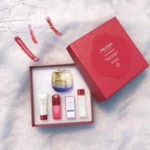 线上8折+额外8.5折黑五价:Shiseido 多款度假套装大促 红腰子、百优面霜超好用
