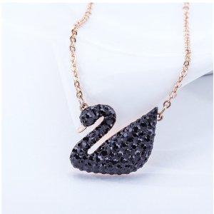 史低到手¥369Swarovski 黑天鹅项链 超美经典款