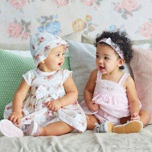 低至4折+额外8.5折 连衣裙仅$4.45儿童套装 Chick Pea 会呼吸的婴儿爬服 公主连衣裙