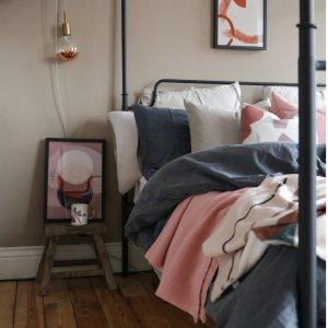 低至6折+独家额外7折In Homeware 高品质床上用品折上折 收高颜值被套、床单