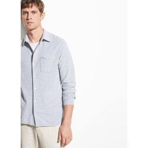 VinceOxford Pique Long Sleeve