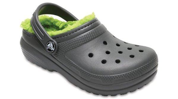 儿童加绒洞洞鞋