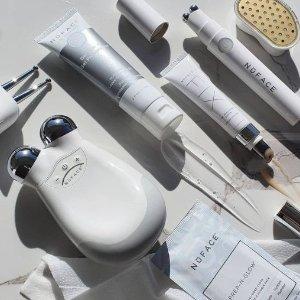 低至7折+满送按摩凝胶B-glowing 美容仪热卖 收NuFACE 超值套装、红蓝光面膜仪