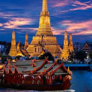 往返机票$490起Expedia 洛杉矶到曼谷机票促销 指定日期超低价格 享日航服务