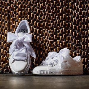 Puma蝴蝶结小白鞋