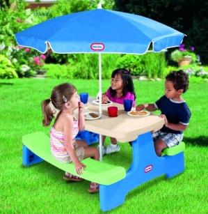 $59.97(原价$89.99)Little Tikes小泰克儿童可折叠桌椅带遮阳伞
