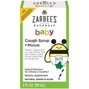 Zarbee's Naturals Baby Cough Syrup + Mucus, Natural Grape Flavor, 2 OZ (with Photos, Prices & Reviews) - CVS Pharmacy