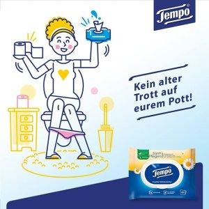 16包低至€21 多种香味可选Tempo 得宝湿厕纸 疫情反弹超市又缺卫生纸了?这有卫生健康之选