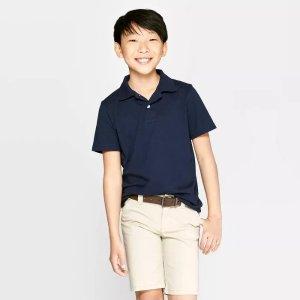 Cat & Jack$10 Off $40Boys' Uniform Short Sleeve Jersey Polo Shirt - Cat & Jack™ Navy