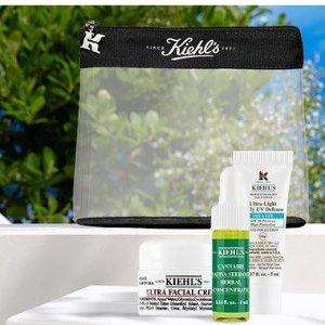 满£60送封面4件套(含化妆包)Kiehl's 全场护肤热卖 收白泥,高保湿霜,淡斑精华