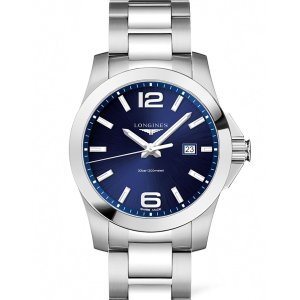 Extra $20 offLONGINES Conquest Blue Dial Stainless Steel Men's Watch L37604966