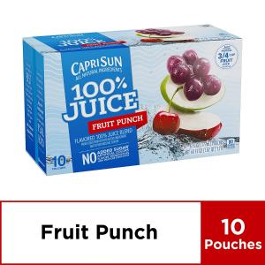 $6.94Capri Sun 100% Fruit Punch Juice, 60 Fl. Oz (Pack of 4)