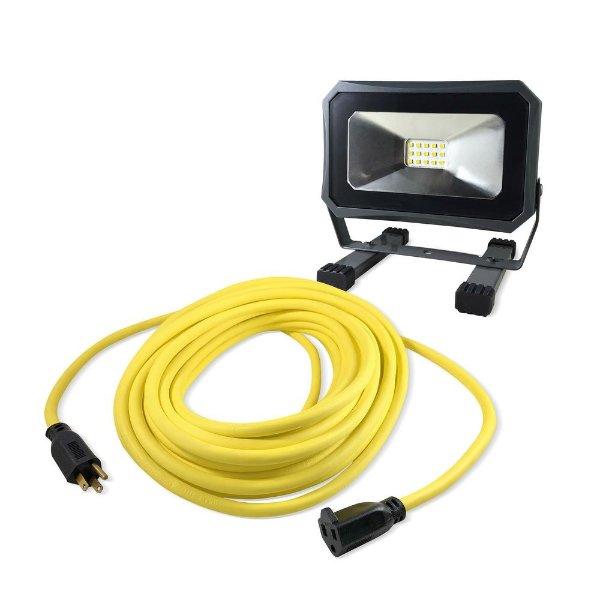 50 ft. 户外电源延长线+1000流明工作灯