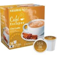 Cafe Escapes Chai Latte K-Cup 咖啡胶囊16个