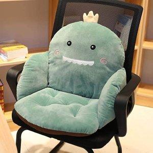 绿色小恐龙坐垫靠背一体