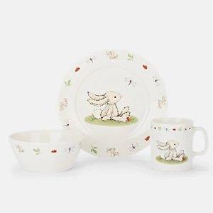 Jellycat兔兔图案餐具