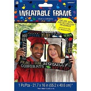 充气毕业生拍照镜框道具