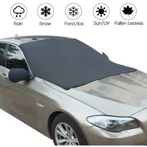 $8.39(原价$15.99)Haofy 汽车挡风玻璃保护罩 2合一 防雪又防晒 开车族必备