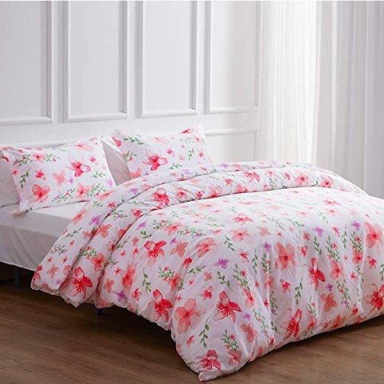 NexHome 印花被套+枕套组合 Queen尺寸
