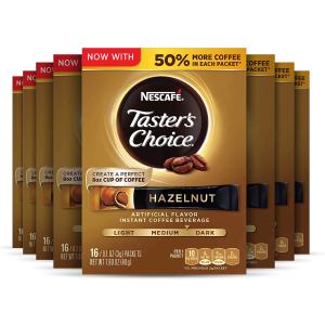 $20.33 一包$0.16Taster's Choice 榛子口味速溶咖啡粉 共128包