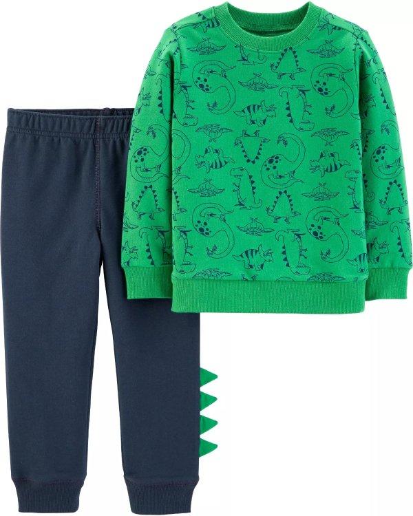 男婴恐龙卫衣2件套