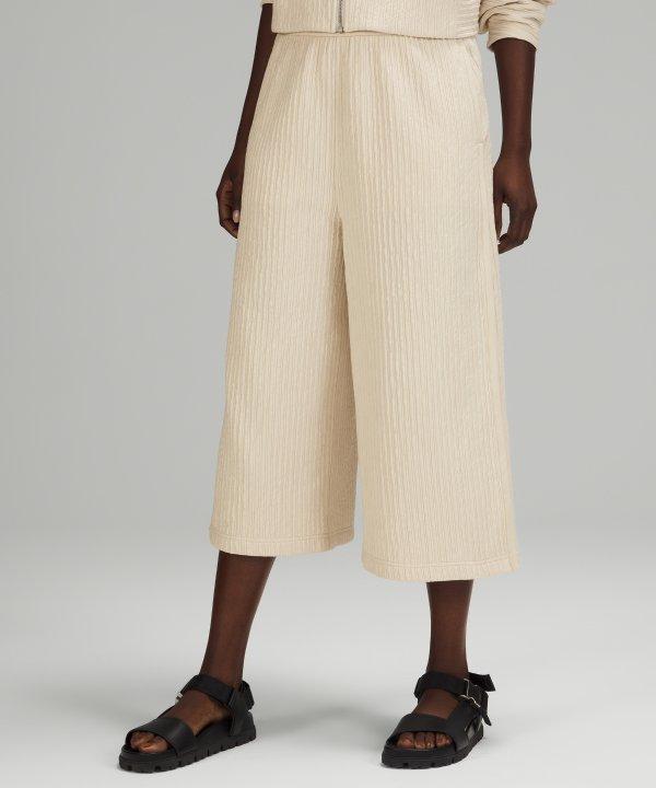 Textured 阔腿休闲裤